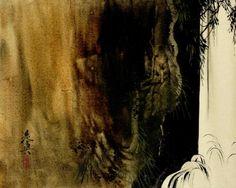 Shibata Zeshin (柴田是真 (1807–1891).  from an album of 18 urushi-e (lacquer) paintings.