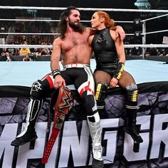 Seth y Becky❤😍 Stoping Grounds Wwe Seth Rollins, Seth Freakin Rollins, Best Girlfriend Ever, Wwe Couples, Wwe Pictures, Catch, Rebecca Quin, Wrestling Superstars, Men's Wrestling