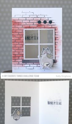 Small Brick Background, You Make My Tail Wag, You Make My Tail Wag Die-namics - Kelly Griglione #mftstamps