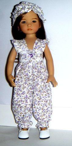 Effner Little Darling Doll Lilac Romper With Headband By TnTCreations Pretty Dolls, Beautiful Dolls, Barbie, Ag Dolls, Girl Dolls, Diana, Doll Costume, Child Doll, Girl Doll Clothes