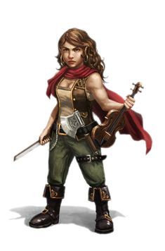 Rosie Cusswell - short fierce and mouthy, she has been press-ganged into the crew of the Wormwood. Her temper has made her at odds with the officers and would be fast friends to anyone that could get her fiddle from the Quartermaster