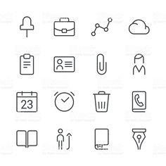 Conjunto de ícones de negócios preto série 2/Linha vetor e ilustração royalty-free royalty-free