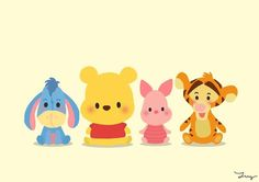 Image via We Heart It #adorable #cute #disney #eeyore #piglet #winniethepooh #tigger