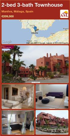 Townhouse for Sale in Manilva, Málaga, Spain with 2 bedrooms, 3 bathrooms - A Spanish Life Malaga Spain, Costa, Sandy Beaches, Seville, Townhouse, Terrace, Swimming Pools, Bath, Mansions