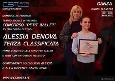 Domenica 26 febbraio Teatro Sociale di Valenza Concorso ' Petit Ballet ' Solista Danza Classica Alessia Denova Terza classificata Primo concorso dell'anno per Alessia ed inizia con un grande risultato complimenti all'allieva e alla Docente Santa Apine  Seguici sulla nostra pagina ufficiale: https://www.facebook.com/csmerone/ O sul nostro sito web: http://www.csm1973.it/2017/03/02/alessiadenova3classificata/ Centro Sportivo Merone Via Paolo VI  22046 Merone CO Telefono: 031 650305