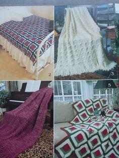 Second Silver - Crochet Knitting Knitted afghans patterns Serenade 940 Yarns Brunswick 6 designs