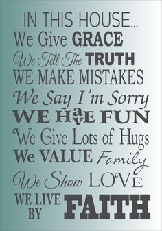 Items similar to In This HOUSE- **Reusable STENCIL** 6 sizes available- Create beautiful Family signs on Etsy Son Quotes, Family Quotes, Qoutes, Say Im Sorry, Cottage Signs, Inspirational Quotes About Success, Custom Stencils, Spanish Humor, Keep The Faith
