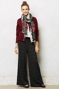 I could use a dark pant for fall and I love these! Would choose these over a maxi skirt any day.
