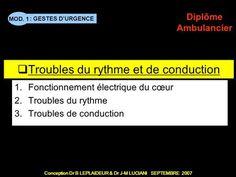 Troubles du rythme et de conduction> Trouble, Emergency Medical Technician, Cardiology