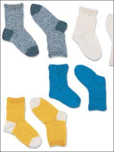 Knitting - Baby Knitting Patterns - Baby Sock Bonanza