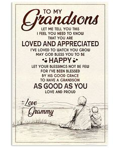 Shop for unique Grandson apparel and homegoods on CoolGrandmaStore. Find the perfect Grandson t-shirts, mugs, posters, phone cases, and more. Grandson Quotes, Grandkids Quotes, Quotes About Grandchildren, My Daughter Quotes, My Children Quotes, Quotes For Kids, Meaningful Quotes, Inspirational Quotes, Happy Quotes