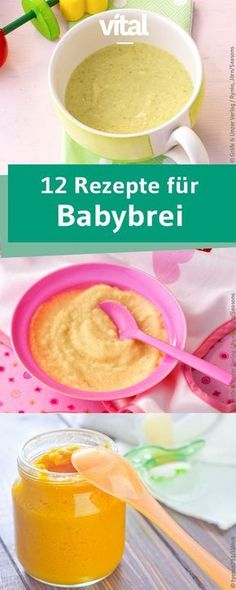 Homemade baby food-Gesunde Babynahrung selbst gemacht Making baby porridge yourself is not difficult. We have 12 different baby food recipes for you.