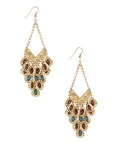 tribal coin earrings $6.80