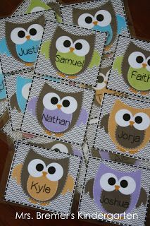 Owl Classroom Labels {by Anita Bremer}