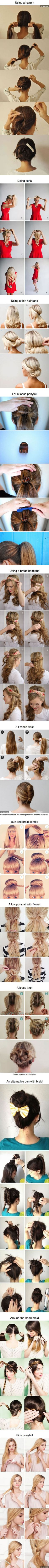 12 Hairstyles For Girls Which Can Be Done In 3 Minutes