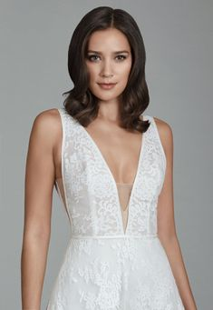 4e11ea54e583e Style 2802 Tara Keely by Lazaro bridal gown - Ivory Chantilly lace A line bridal  gown