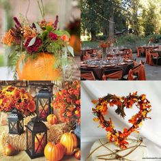 Fall wedding decorations @Heather Creswell Creswell Creswell Creswell Ferguson love it!