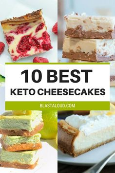 The best keto cheesecake recipes for the ketogenic diet! With these keto cheesecakes you can satisfy your sweet tooth without feeling guilty! Enjoy these low carb cheesecakes on your ketogenic diet!