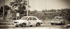 Sempre il Rally Å koda, questa volta e' il 1983. (10. edizione). I fratelli Freyther e Krapick Wolfgang con la Škoda 120 LS davanti alla coppia di casa Zdenek Pipotae e Oldrich Gottfried su Škoda 130 RS