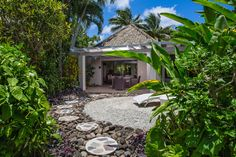 Book your luxury Rarotonga accommodation today - check out our wide range of accommodation in Rarotonga including beachfront villa and garden suites. Rarotonga Resorts, Rarotonga Cook Islands, Island Villa, Islands In The Pacific, Garden Villa, Gazebo, Tourism, Beautiful Places, Outdoor Structures