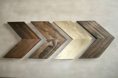 Hey, I found this really awesome Etsy listing at https://www.etsy.com/listing/223439413/four-wood-chevron-arrows-wood-arrow-wall