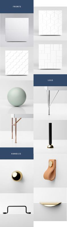 High-Design Ikea Hacks Have Arrived I love the idea of using simple Ikea pieces as blank canvases for customization. Would you splurge on these additions for your Ikea furniture? fronts, handles and legs for high-design Ikea hacks Ikea Hacks, Furniture Legs, Furniture Design, Kitchen Furniture, High Design, Diy Home Decor, Room Decor, Deco Retro, Diy Interior