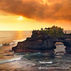 Beautiful Tanah Lot Temple at sunset.
