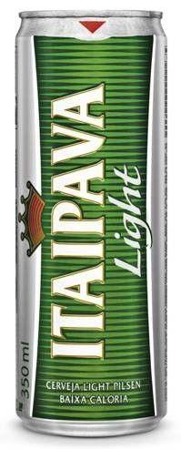 Cerveja Itaipava Light, estilo Lite American Lager, produzida por Cervejaria Petrópolis, Brasil. 3.5% ABV de álcool.