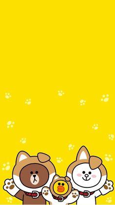 Line Friends 배경화면 Duck Wallpaper, Korea Wallpaper, Lines Wallpaper, Cartoon Wallpaper Iphone, Wallpaper Backgrounds, Kawaii Drawings, Cute Drawings, Kakao Friends, Brown Line
