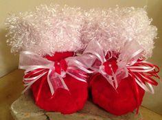 Valentine Snugglies Red with White Minky by TutuBeautifulbyCiwi