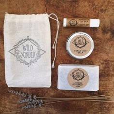 Gift Bundle  First Aid Balm  Lip Balm  Mini Soap by WildYonderShop