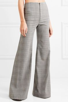 Georgia Alice | Memory Prince of Wales checked woven wide-leg pants | NET-A-PORTER.COM