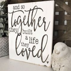Rustic wood sign measures White background Brown lettering Comes ready to hang. Ready to ship in weeks Love Wood Sign, Rustic Wood Signs, Wooden Signs, Rustic Decor, Vintage Wood Signs, Home Decor Signs, Diy Signs, Diy Home Decor, Room Signs