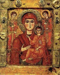 Virgin and Child.Tsilkani, Georgia - 9th century.