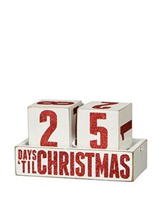 Box Sign Days Til Christmas Countdown Blocks Wooden Calendar ** Want to know more, click on the image.