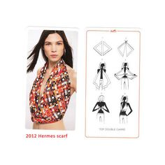 Have You Ever Tried to Wear Hermes Scarves as Tops or Skirts? hot sale... via Polyvore
