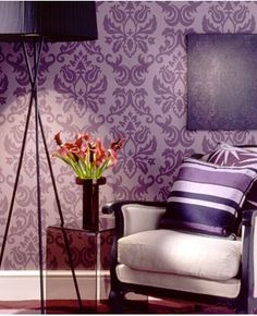1000 Images About Guest Room Decor Ideas On Pinterest Purple Bedrooms Damasks And Chevron Walls