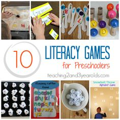 Literacy Games for Preschoolers that toddlers will love by Teaching 2 and 3 Year Olds