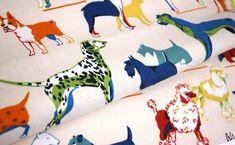 Retro doggy fabric..
