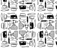 Mary Poppins Doodles fabric by cozyreverie on Spoonflower - custom fabric