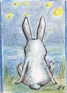 'Bunny's back' by Eva Poppink http://www.littlewhitebunnies.com