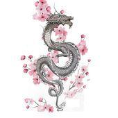 Cerezo and Dragon Cerezo and Dragon - - This picture has ge . - Cerezo and dragon Cerezo and dragon – – This picture has … – Cherry and Dra - Dragon Tattoo With Flowers, Red Dragon Tattoo, Small Dragon Tattoos, Dragon Tattoo For Women, Dragon Sleeve Tattoos, Japanese Dragon Tattoos, Dragon Tattoo Designs, Tattoos For Women, Dragon Tattoo Wrist