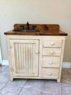 Bathroom Vanity 36 Rustic Farmhouse Fh1297 36l W Drawers Copper Sink