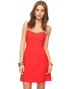 Linen Blend Cutout Dress | FOREVER21.