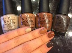 Beige/white,caremel, toffee and brown chocolate shades