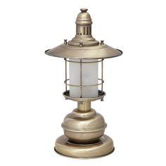 Stojąca LAMPA stołowa SUDAN 7992 Rabalux industrialna LAMPKA latarnia patyna złoty