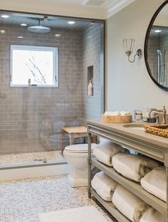 Neutral bathroom - Brookes and Hill Custom Builders