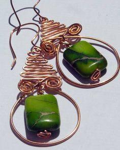 Copper Coil Earrings https://www.etsy.com/shop/Rosewire