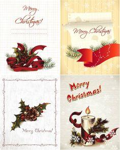 Grunge christmas card vector