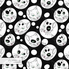 Turkish street cat #pattern #surfacedesign #365 #365patterns #art #mzwonko